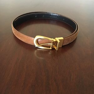 Accessories - 2 tone beige and brown color belt
